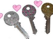 décorer clefs avec paillettes