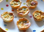 Cup-quiches chorizo poivrons verts Chorizo green pepper cup-quiches