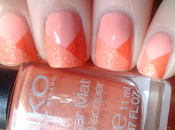 [Nail art] Pêche, orange sugar