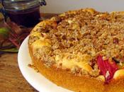 Gâteau rhubarbe, streusel spéculoos