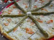 Pizza asperges saumon
