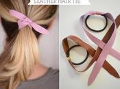 lien cuir pour attacher cheveux