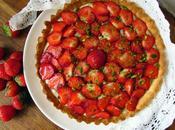 Tarte fraises crème pistache