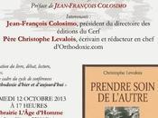 """Présentation """"Prendre soin l'autre"""", octobre librairie L'Age d'Homme Paris"""