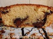 Cake vanille fourré nutella