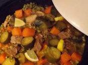 Tajine veau citron courgettes- petits pois-carottes