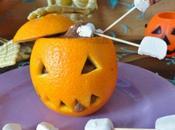 Mousse chocolat coton-tige d'Halloween