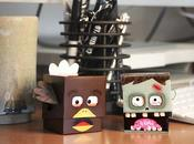 Halloween papertoys Zombie Turkey
