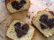 Gâteau caché cake coeur chocolaté