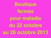 Fermeture boutique ville octobre 2013