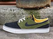 Nike Stefan Janoski Black Logan Green Laser Orange