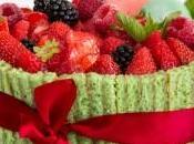 Charlotte fruits rouges pistache