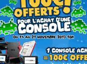Cdiscount offre euros pour l'achat d'une console