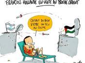 François Hollande visite Proche Orient