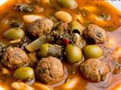Ragoût haricots blancs boulettes bœuf Market loubya Tunisienne