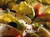 Pétales courgettes mozzarelle