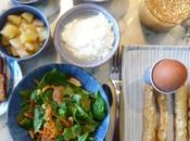 Brunch autres repas) végétarien (AVEC* oeufs, lait, gluten