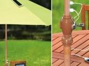 parasols chargeur solaire