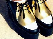 *Metallic gold touch# shoes***