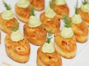 Mini cake saumon fumé crème d'avocat {Bouchée Apéritif}