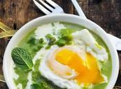 Soupe petits pois menthe mollet pour commencer menu fête très Brit'Food Marque Repère