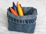 Recyclez jeans pour fabriquer vide poche utiles!