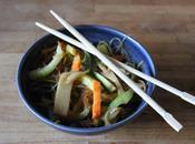 Vermicelles sautés légumes sauce haricots noirs