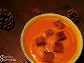 Velouté carottes potimarron pain d'épices