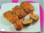 Mini cakes poivron crevettes roses