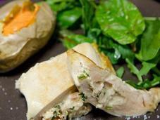 Filets poulet farcis chèvre