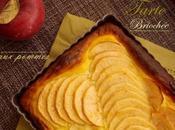 Tarte briochee pommes creme patissiere