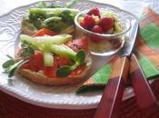 Déjeuner bagel salade fruits lendemain sushis