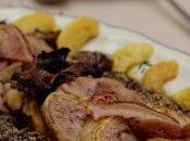 Pintade farcie fricassée forestière, sauce foie gras