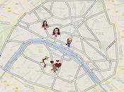 Guidez François Hollande dans rues Paris jusqu'à rendez-vous galant