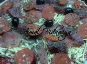 Pizza mama: Peperoni,viande haché poulet