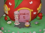 Gâteau Charlotte fraises pinata