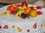 Gâteau pâte sucre thème Automne (autumn cake)