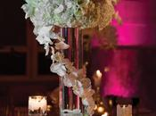Vase tube haut centre table