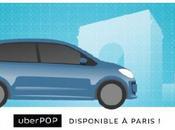 UberPOP nouveau service covoiturage urbain Paris