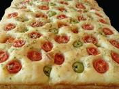 Focaccia pugliese olives tomates