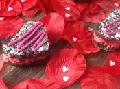 Brownies fourrés crème framboise (Saint Valentin)