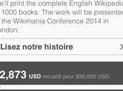 fous veulent imprimer tout Wikipedia 1000 volumes