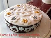 Sponge cake pâte sucre ganache tonka