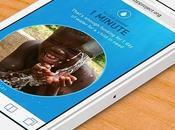 Lâchez téléphones pour offrir l'eau potable enfant