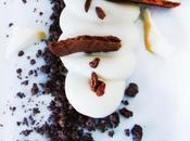 Crème yaourt chocolat blanc, sable anone...