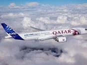 l'A350 couleurs Qatar Airways dessus Toulouse