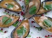Gelée moules Zélande coriandre ponzu salicornes