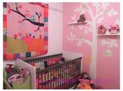 Deux chambres bébé avec linge lit, rideaux, housses doudous