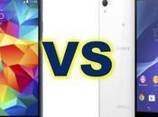 Comparatif Samsung Galaxy Sony Xperia