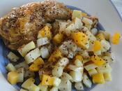 Cuisses poulet four poelee legumes anciens miel